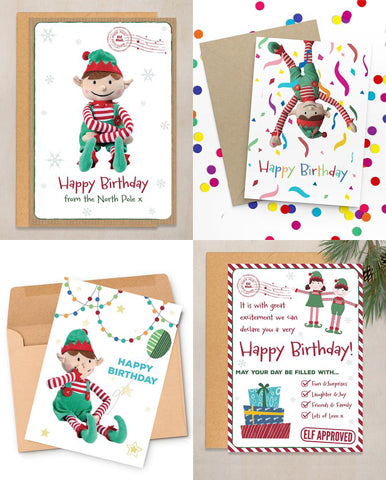 Happy Birthday Elf Personalised Christmas Card From Boy