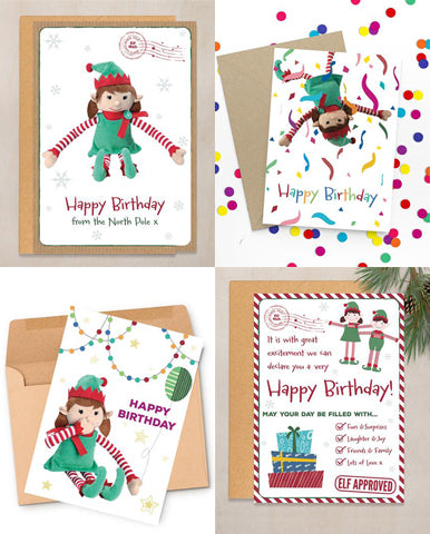 happy birthday elf personalised christmas birthday card from girl elf
