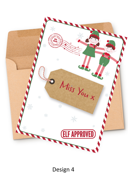 North Pole Personalised Elf Greeting Card