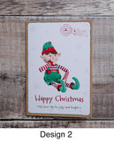MERRY CHRISTMAS ELF – PERSONALISED CHRISTMAS CARD FROM BOY ELF