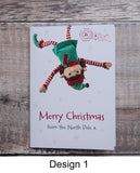 MERRY CHRISTMAS ELF – PERSONALISED CHRISTMAS CARD FROM GIRL ELF