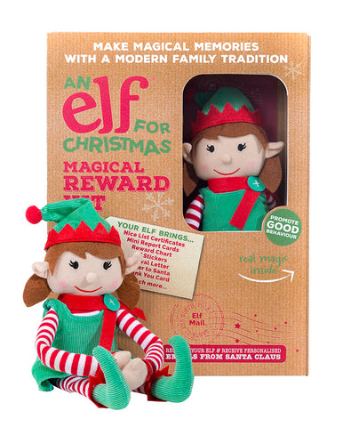 Christmas Girl Elf Toy & Magical Reward Kit