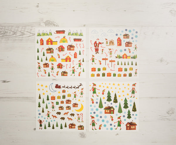North Pole Christmas Sticker Fun Set