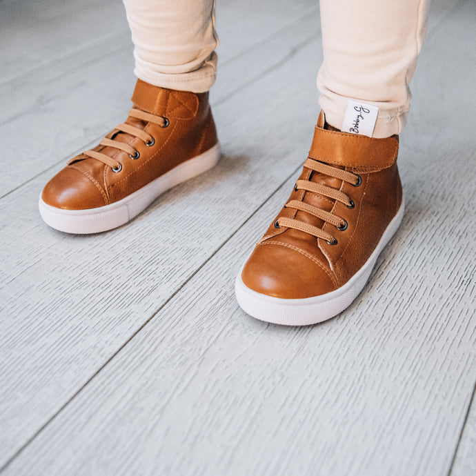 Brooklyn Tan Toddler Boots