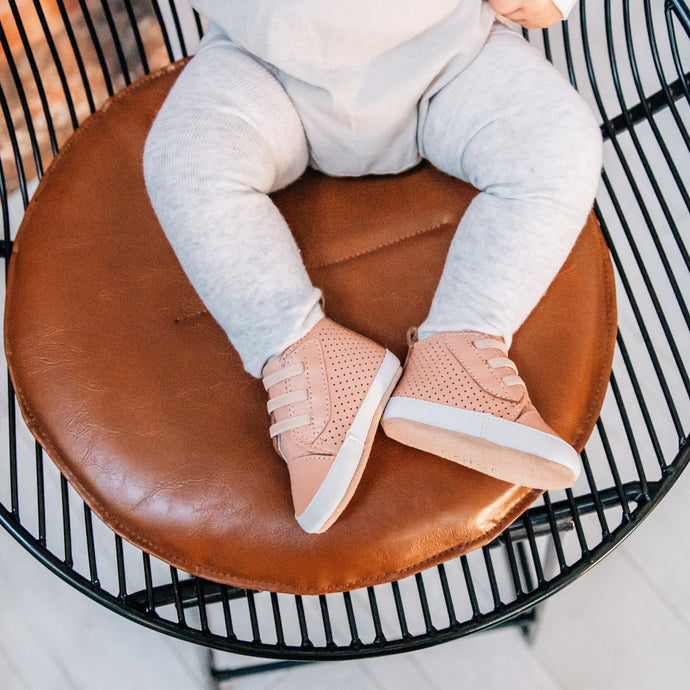 Brooklyn Prewalker Baby Shoes- Rose Tan