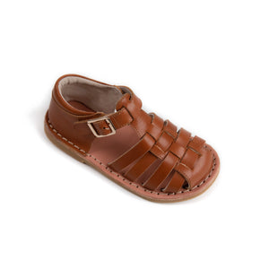 classic roman leather kids tan sandal