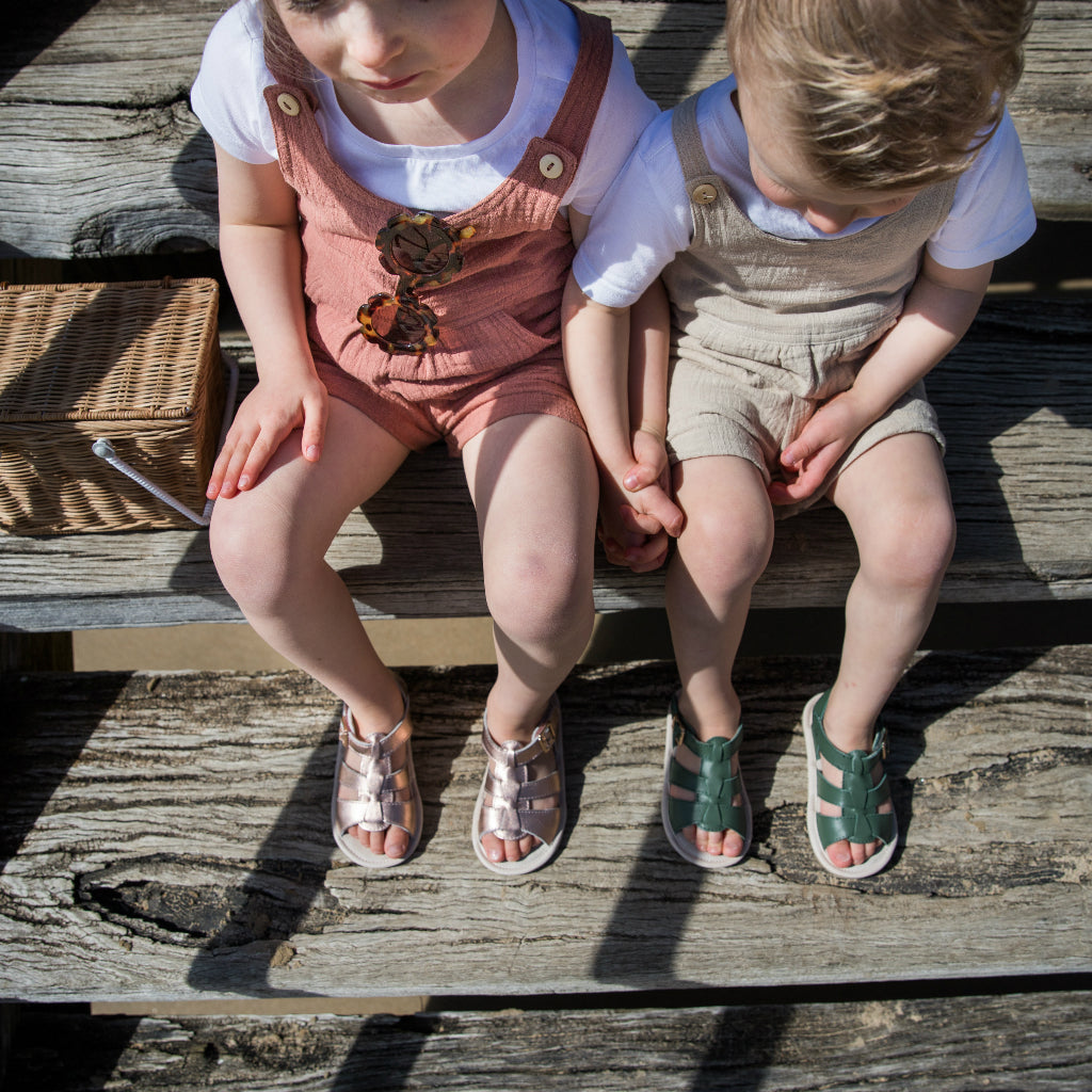 Amalfi Baby and Toddler Sandals - OLIVE