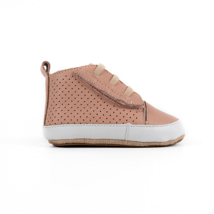 Brooklyn Prewalker Baby Shoes- Dusty Pink