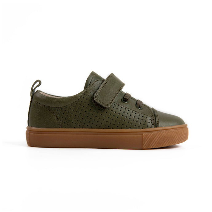 khaki boys leather sneakers