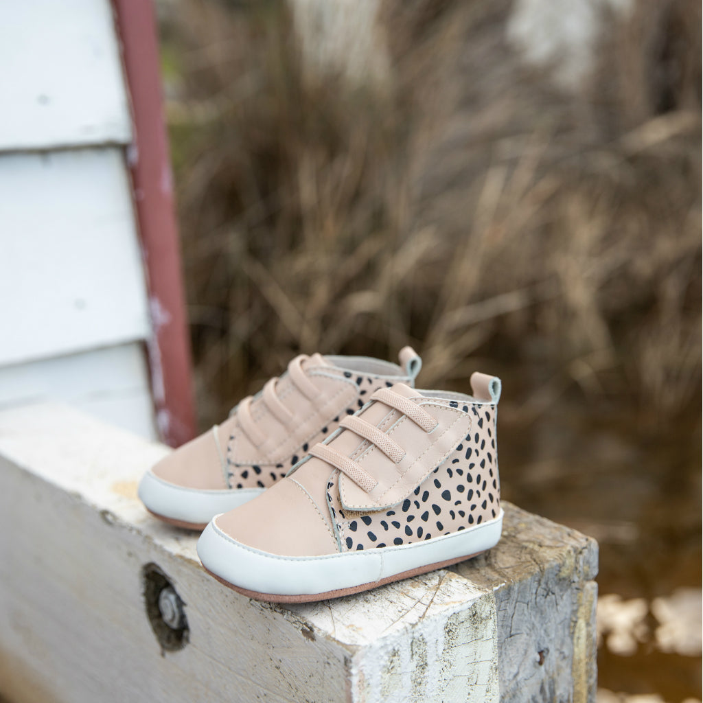 Brooklyn Prewalker Baby Shoes - Nude Spot
