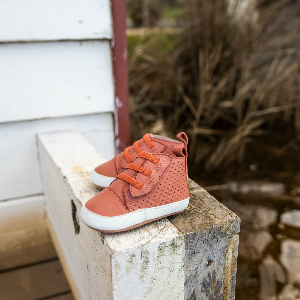 Brooklyn Prewalker Baby Shoes - Terracotta