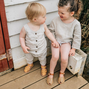 baby and kids leather summer sandals