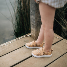 camel spotted leather byron sneakers