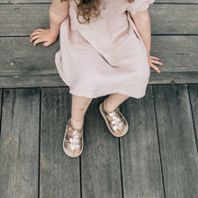 rose gold kids sandals