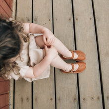 tan espadrille leather kids sandals