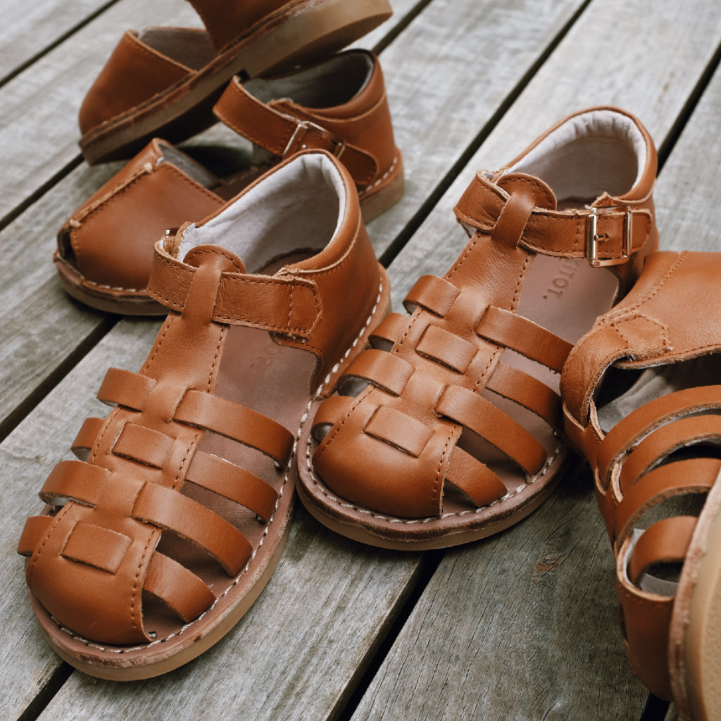 Roma Kids Sandal - Honey Tan