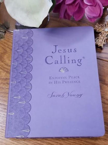 Jesus Calling Devotional Large Print Edition - Lavender