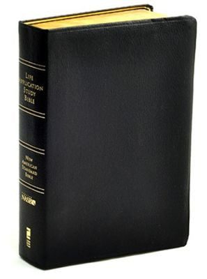 NAS Life Application Study Bible , Black Leather