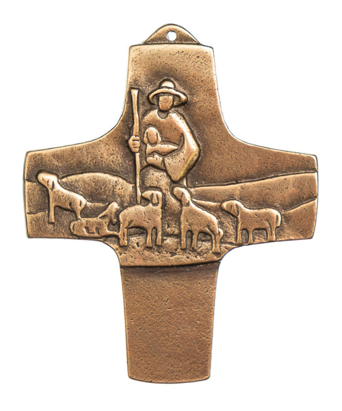 Good Shepherd and Flock Wall Cross