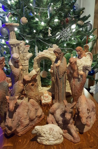 Clearance ON SALE 14 piece China Nativity Set WAS $185