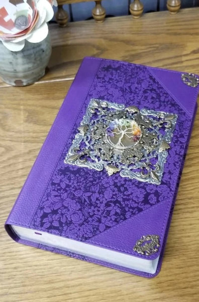 KJV Tree of Many Possibilities Purple Giant Print Bible