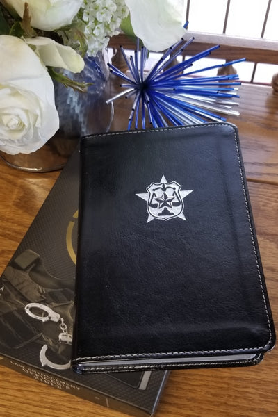 CSB Law Enforcement Officer's Compact Bible, Black LeatherTouch