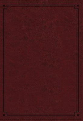 NKJV Comfort Print Study Bible Imitation Leather Crimson Indexed