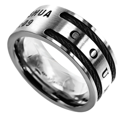 Cable Ring-Courage Joshua 1:9