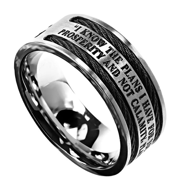 Cable Ring-I Know Jeremiah 29:11