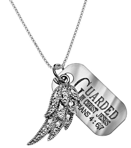 CZ Angel Wing Necklace