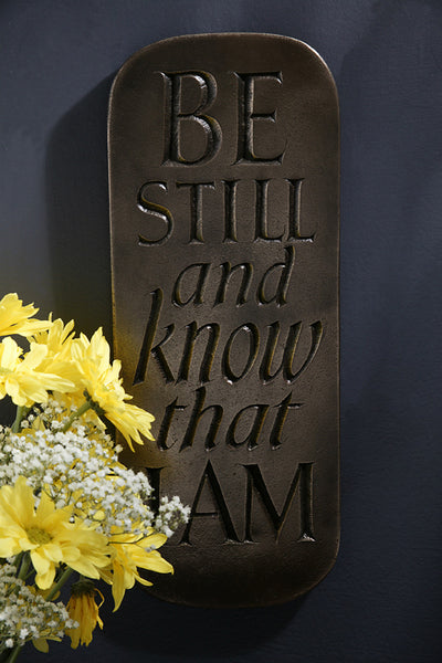Be Still and Know That I Am Bronze Plaque
