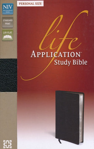 NIV Life Application Study Bible/Personal Size-Black Bonded Leather