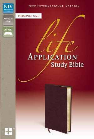 NIV Life Application Study Bible/Personal Size-Burgundy Bonded Leather