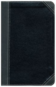 NIV Thinline Bible Large Print (Comfort Print)-Black/Gray