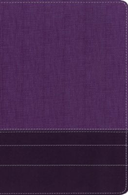 NIV Thinline Bible/Large Print (Comfort Print)-Purple/Plum Leathersoft