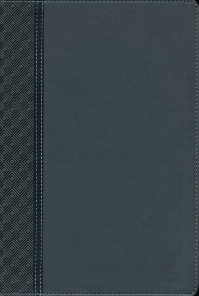 NIV Thinline Reference Bible Grey LeatherSoft