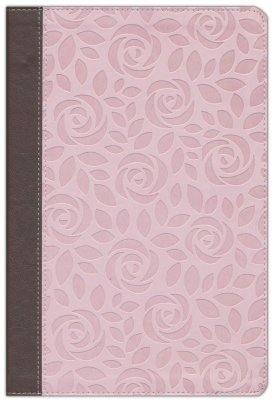 NIV Thinline Reference Bible/Large Print (Comfort Print)-Pink/Brown
