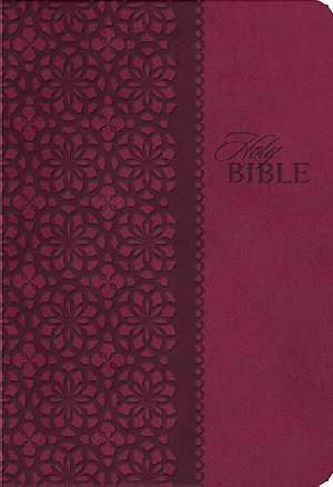 NKJV Large Print Study Bible-Cherry Red