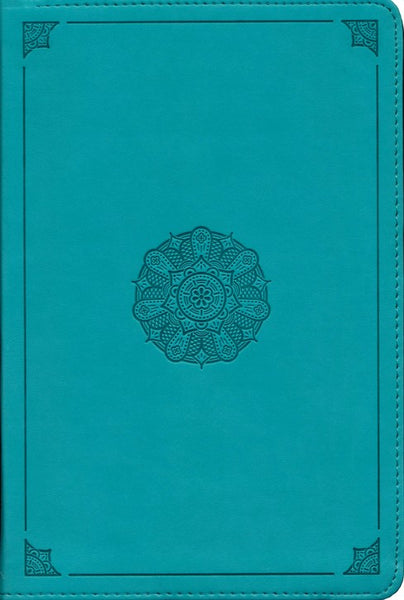 ESV Study Bible, Personal Size (TruTone Imitation Leather, Turquoise with Emblem Design)