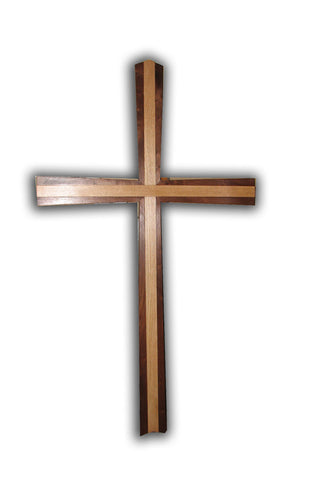 5 ft Hardwood Disciple Cross IN STOCK- ONLY 1 -no lead time