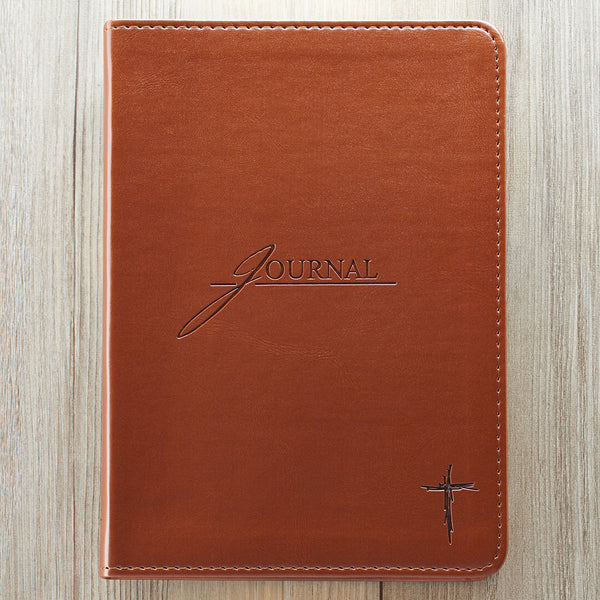 Brown Journal with Cross - Limited Quantities Available