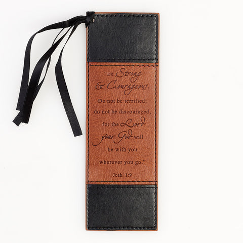 Be Strong and Courageous, Luxleather Bookmark