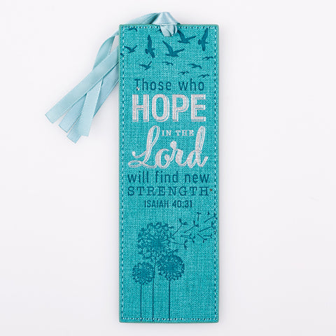 Hope in the Lord Luxleather Bookmark - Isaiah 40:31