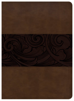 CSB Study Bible-Mahogany LeatherTouch Indexed