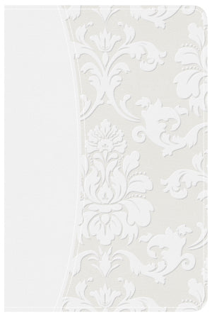 White Floral Bride's Bible CSB