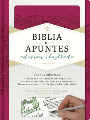 Spanish Biblia de Auntes, Pink Journaling Bible