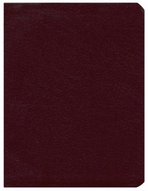 KJV Dake Leather Study Bible Burgundy