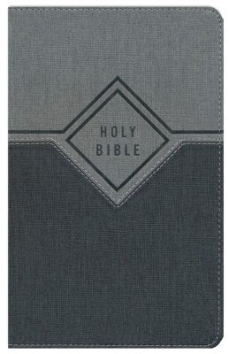 NIV Gift Bible Leathersoft Black and Grey Comfort Print