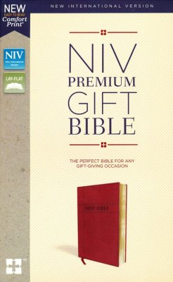 NIV Gift Bible (Comfort Print)-Burgundy Leathersoft