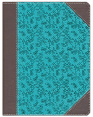 Niv Journal The Word Bible Soft Leather Look Chocolate Turquoise Celebrate Faith